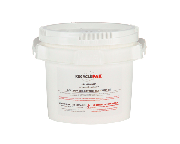 SUPPLY-069-1 GAL DRY CELL BATTERY RECYCLING PAIL